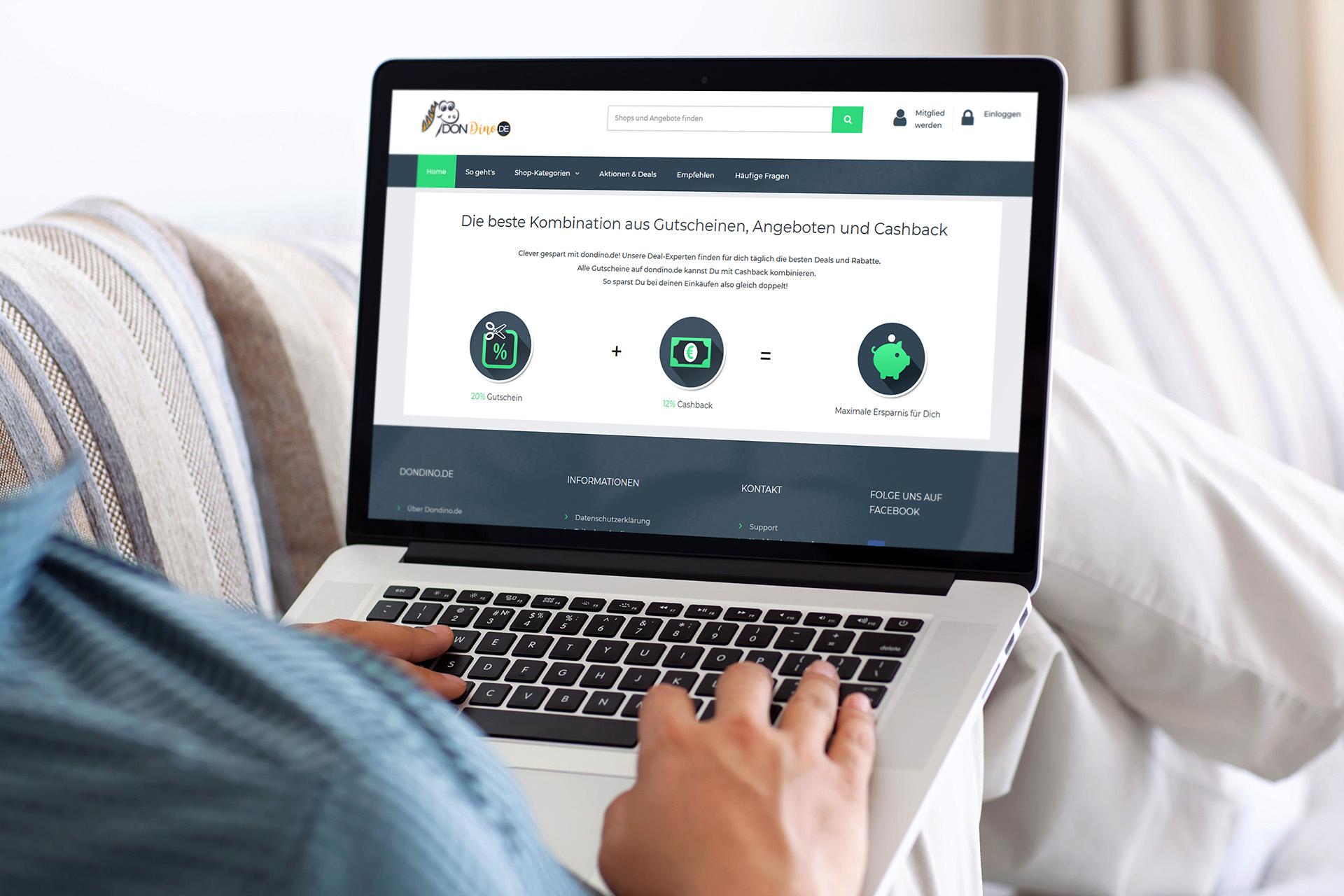 dondino - Webentwicklung eines Paid4-System mit Cashback und Paidmails